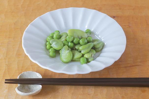 たくまたまえさんに教わる「春の豆のオイル漬け」