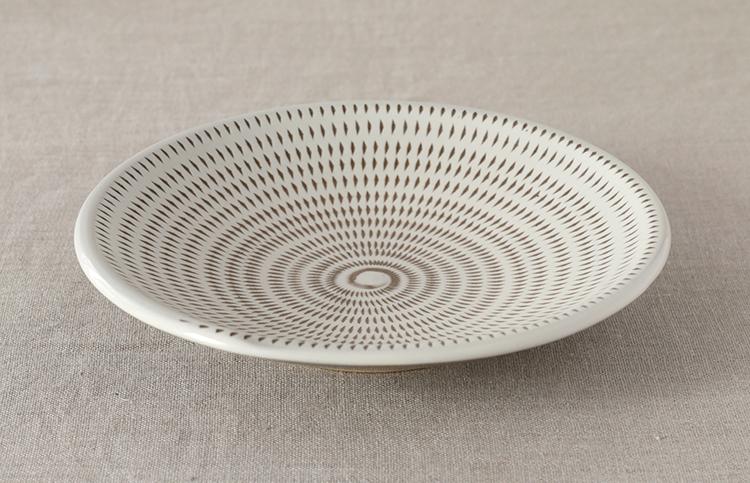 飛び鉋 皿 7寸(小石原焼)