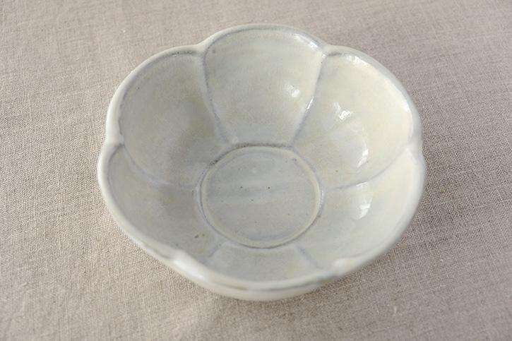 梅鉢の糠釉