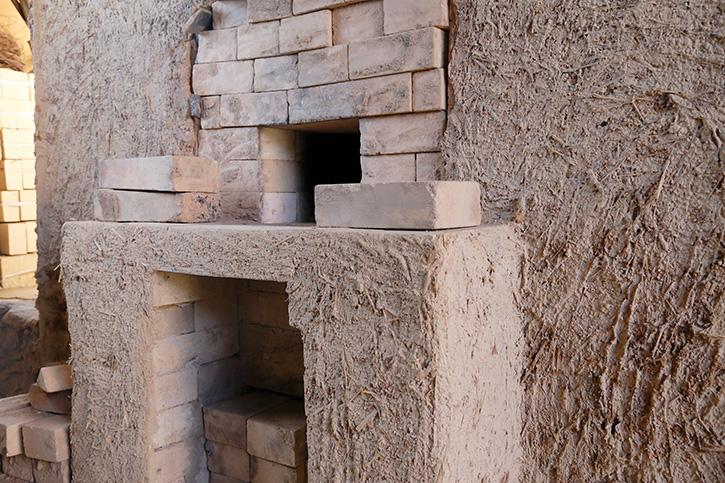 登り窯の焚口