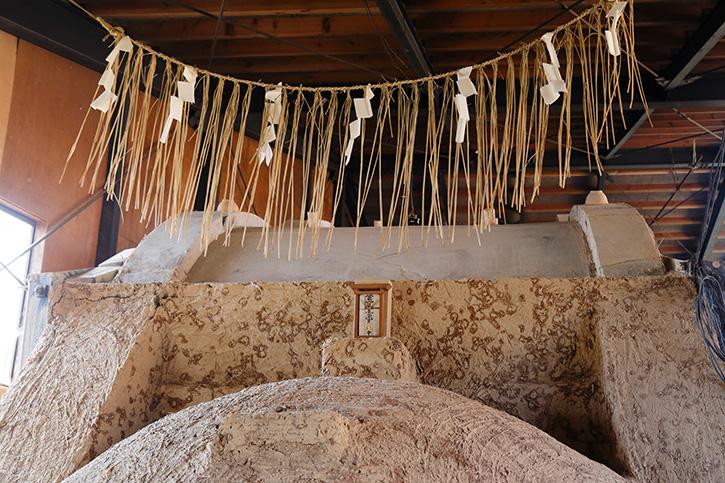 登り窯の神棚