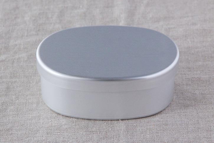 アルミ弁当箱 小判型内フタ付L(大一アルミニウム製作所)