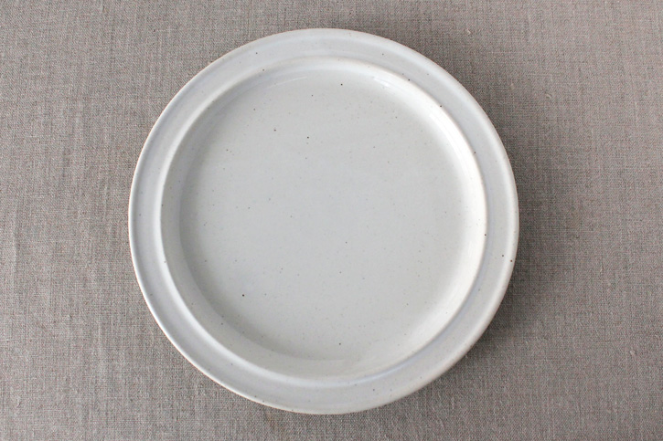 REGULAR PLATE 白濁釉(amabro)