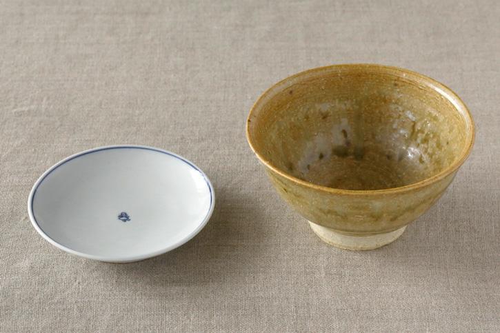 藍九谷プチ印手 ご飯茶碗(東屋)