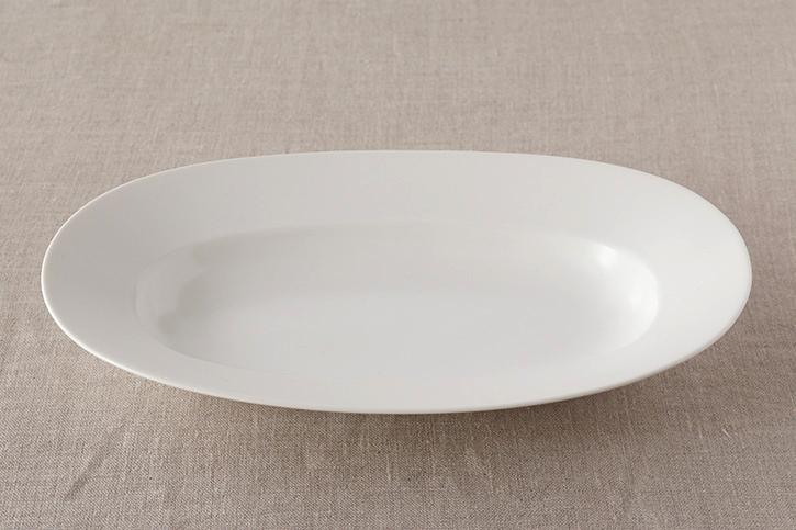 オーバルプレート lily white L (イイホシユミコ)