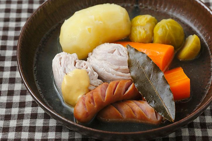薄切り肉でつくる塩豚のポテ