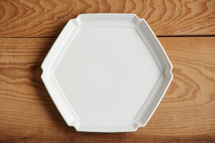隅入り六角皿(JICON・磁今)