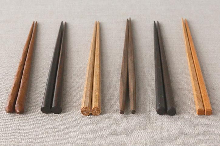 さまざまなかたちの箸