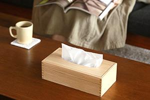 栗のティッシュボックス (倉敷意匠)