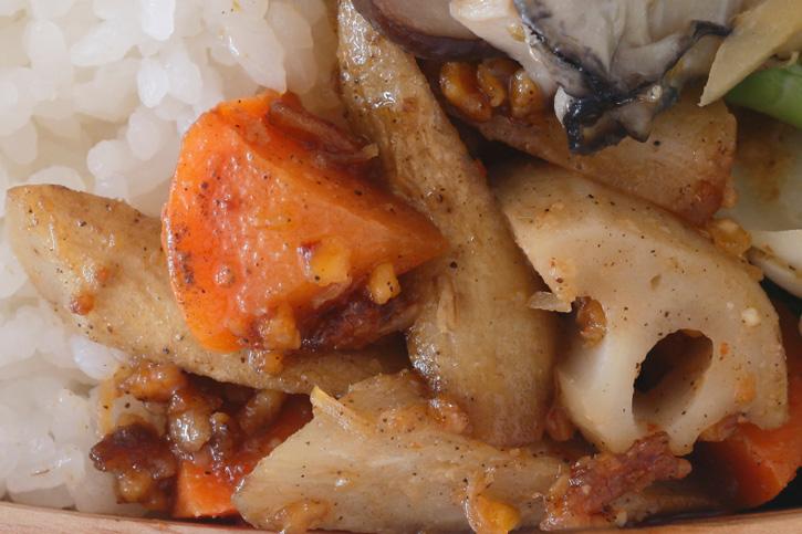 根菜のXO醤炒め