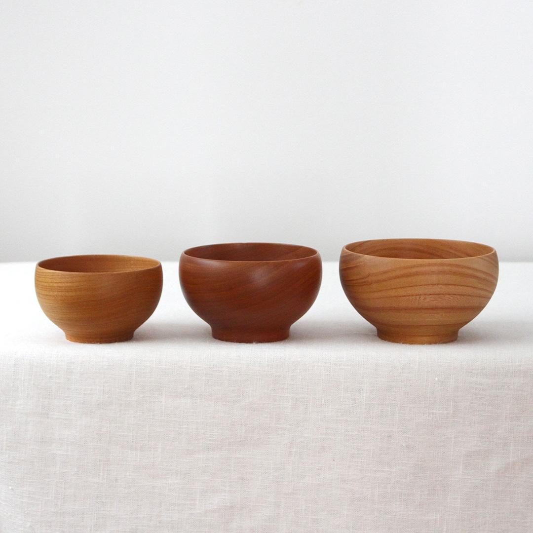 「銘木椀」は3サイズから選べます