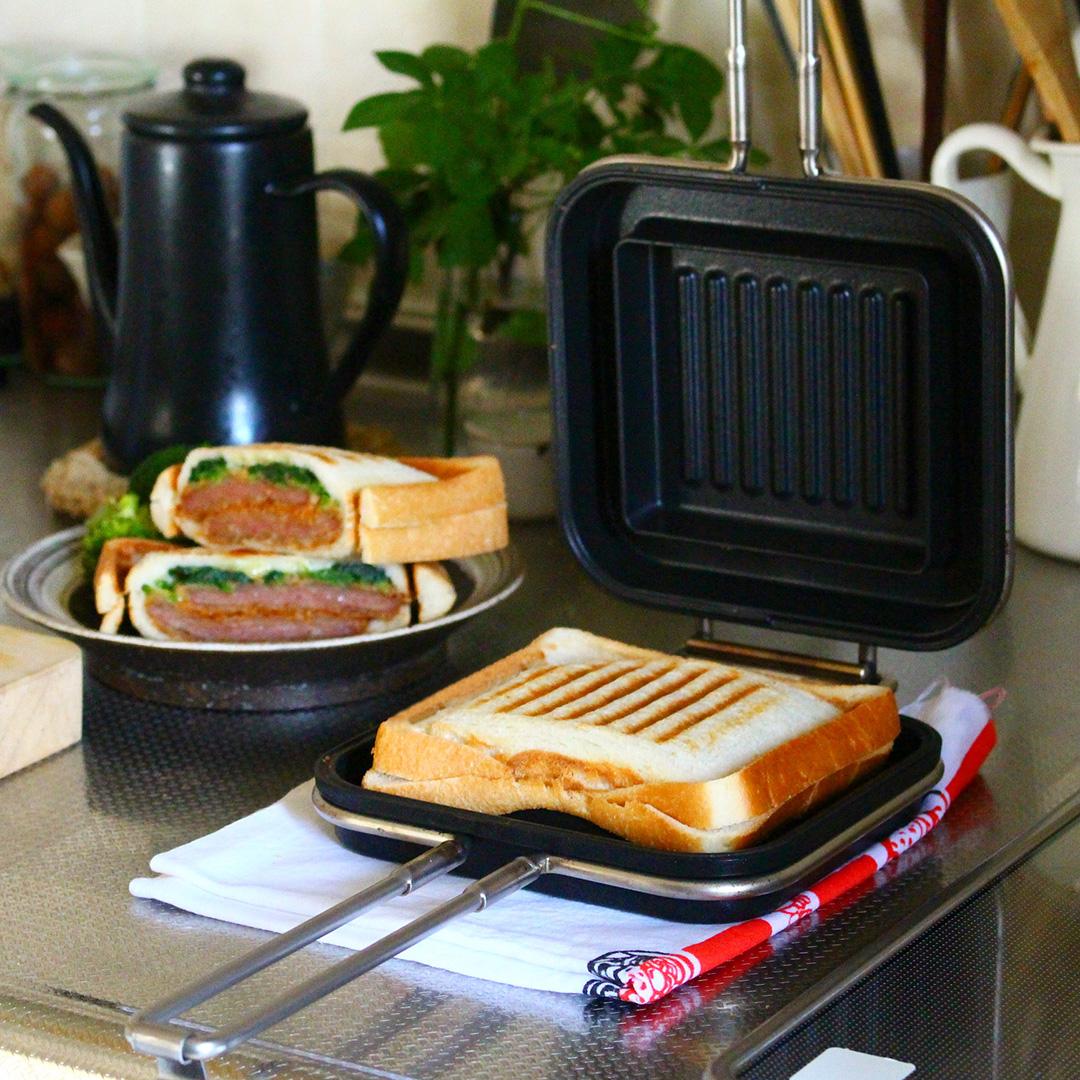 ホットパンで朝ごはん