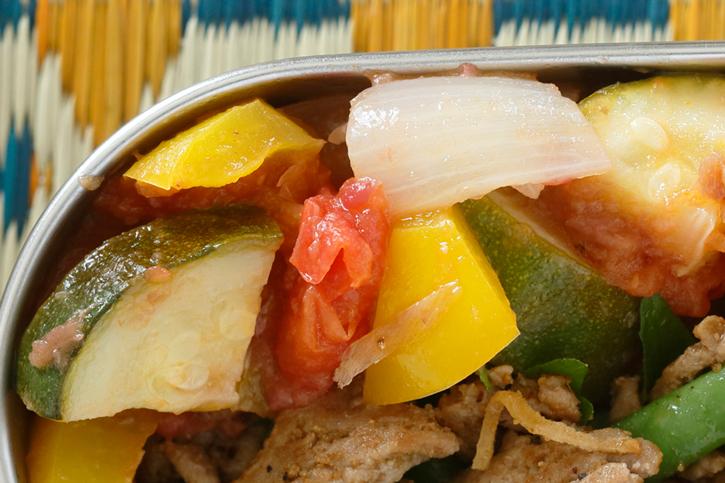 彩夏野菜と梅のオイル煮