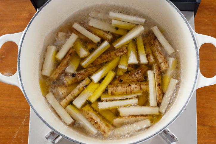 グラッセ液で煮る
